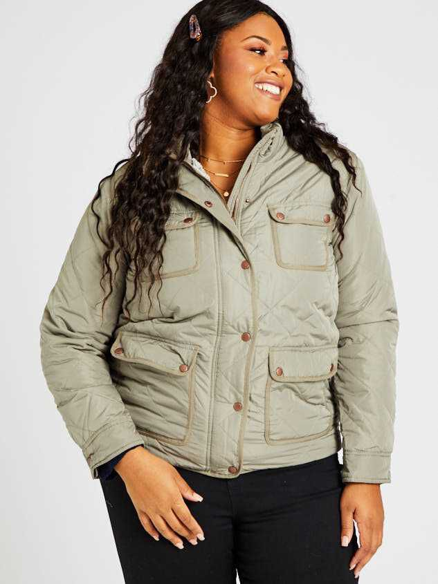 Alpine Quilted Puffer Jacket Detail 2 - A'Beautiful Soul