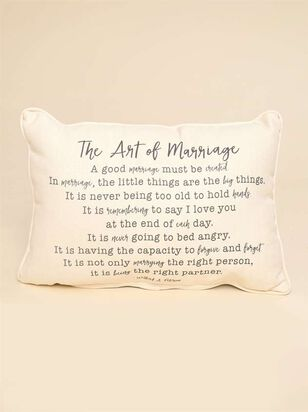 The Art of Marriage Pillow - A'Beautiful Soul