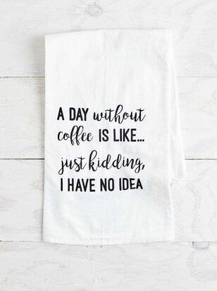 Day Without Coffee Hand Towel - A'Beautiful Soul