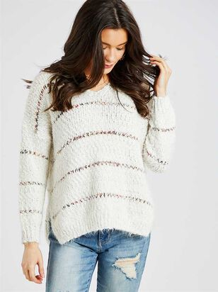Lovely Lash Spiced Striped Pullover Sweater - A'Beautiful Soul