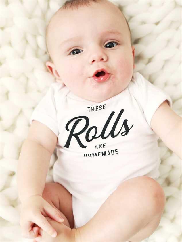 Tullabee Homemade Rolls Onesie - A'Beautiful Soul