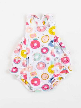 Tullabee Donut Smiles Ruffle Sunsuit - A'Beautiful Soul