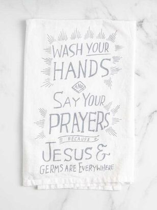 Jesus and Germs Everywhere Hand Towel - A'Beautiful Soul