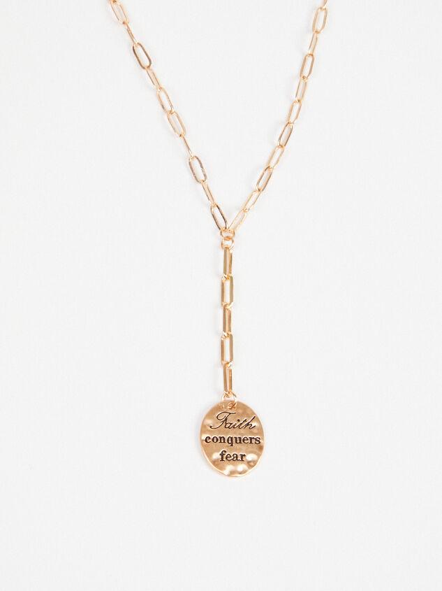 Faith Conquers Fear Necklace Detail 3 - A'Beautiful Soul