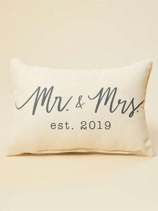 Mr. and Mrs. Established 2019 Pillow - A'Beautiful Soul