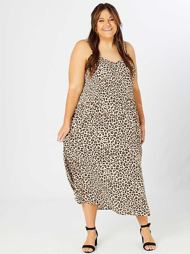 Cally Pleated Leopard Maxi Dress Detail 2 - A'Beautiful Soul
