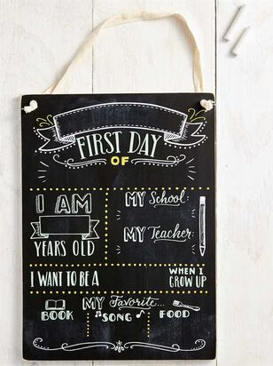 Tullabee First Day of School Chalkboard Sign - A'Beautiful Soul