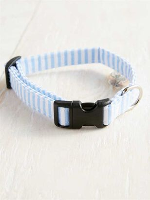 Bear & Ollie's Blue Seersucker Collar - Small - A'Beautiful Soul