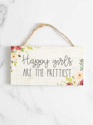 Happy Girls Hanging Sign - A'Beautiful Soul