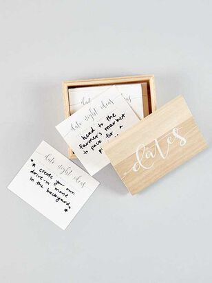 Vow'd Wooden Date Suggestion Box - A'Beautiful Soul