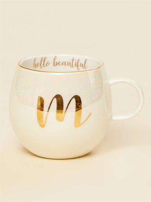 Hello Beautiful Iridescent Monogram Mug - M - A'Beautiful Soul