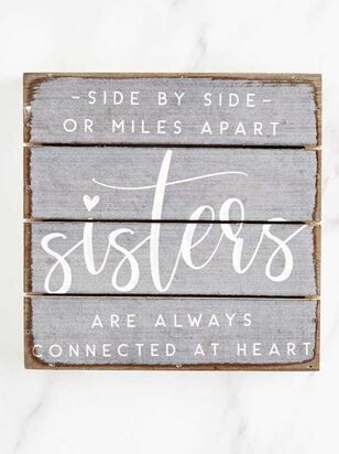 Sisters Connected at Heart Pallet Sign - A'Beautiful Soul