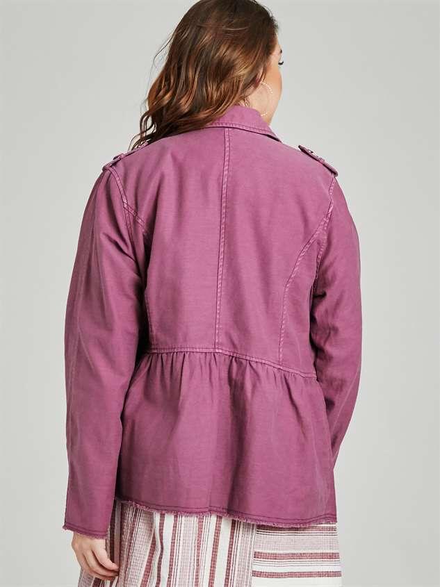 Peplum Military Jacket Detail 4 - A'Beautiful Soul