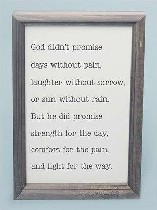 God Didn't Promise Wall Art - A'Beautiful Soul