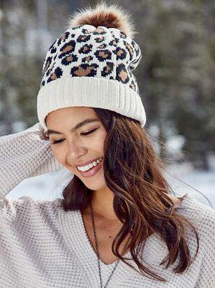 Leopard Pom Beanie - A'Beautiful Soul