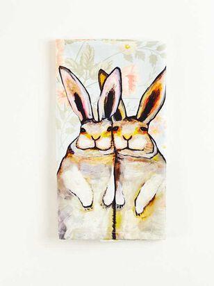 Bunny Floral Tea Towel - A'Beautiful Soul
