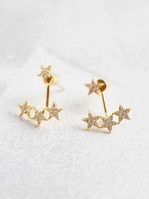 Star Cluster Jacket Earrings - A'Beautiful Soul