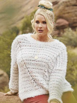 Lovely Lash Cable Sweater - A'Beautiful Soul