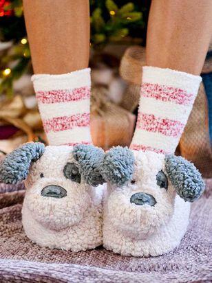 Plush Pup Slippers - A'Beautiful Soul