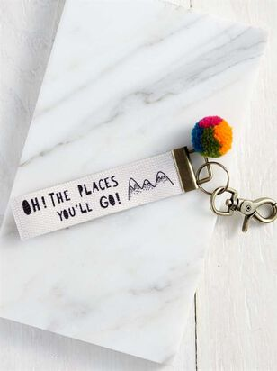 Oh The Places You'll Go Keychain - A'Beautiful Soul