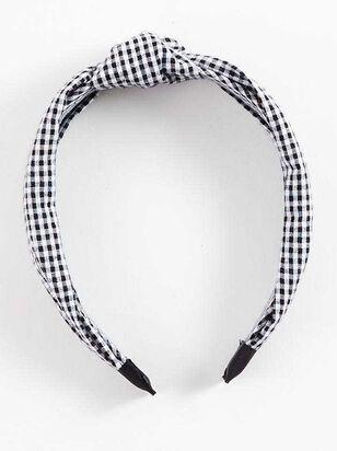 Gingham Knot Headband - A'Beautiful Soul