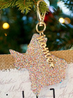 Home Glitter Keychain - Texas - A'Beautiful Soul