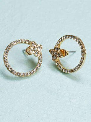 Crystal Hoop Ear Jacket Earrings - A'Beautiful Soul