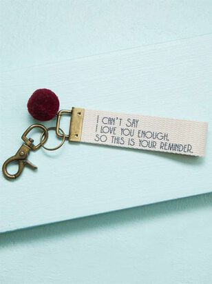 I Love You Reminder Keychain - A'Beautiful Soul