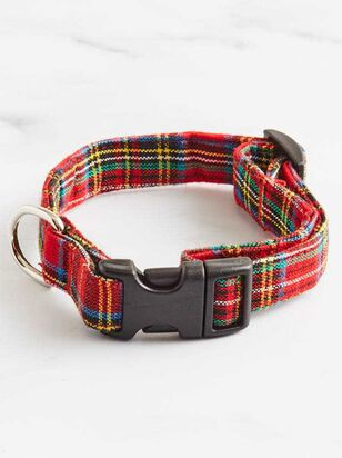 Bear & Ollie's Red Tartan Dog Collar - A'Beautiful Soul