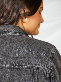 Free Spirit Denim Jacket Detail 2 - A'Beautiful Soul