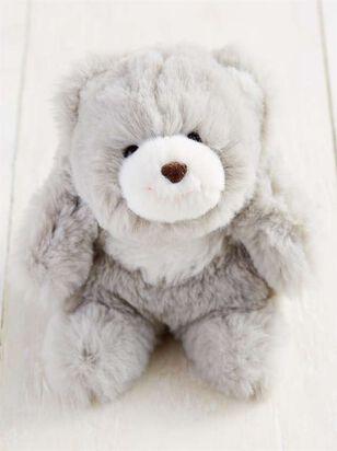 Snuffles the Bear Keychain - Grey - A'Beautiful Soul