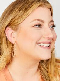 Macramé Hoop Earrings Detail 2 - A'Beautiful Soul