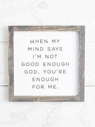 God You're Enough For Me Wall Art - A'Beautiful Soul