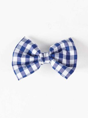 Bear & Ollie's Blue Gingham Collar Bow Tie - A'Beautiful Soul