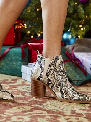 Brynn Snakeskin Booties - A'Beautiful Soul