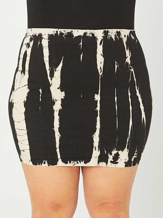 Black Tie Dye Skirt Detail 2 - A'Beautiful Soul