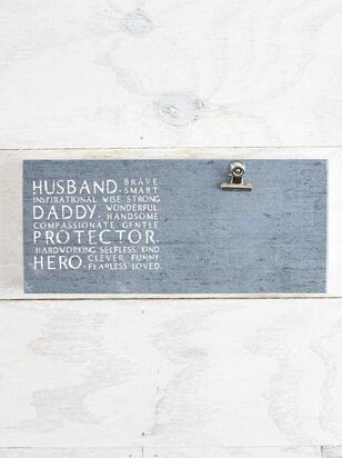 Husband, Dad, Hero Clip Frame - A'Beautiful Soul
