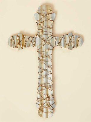 Pearl Wrapped Metal Cross - A'Beautiful Soul