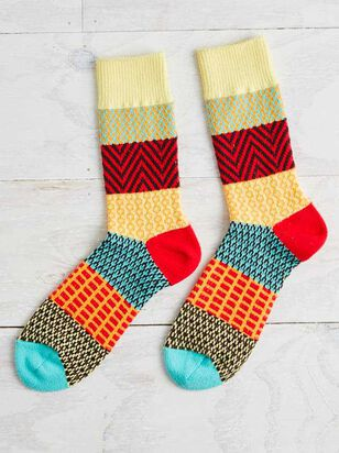 Fiesta Crew Socks - A'Beautiful Soul