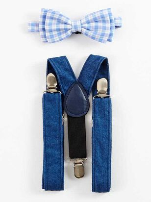 Tullabee Bow Tie Suspenders Set - A'Beautiful Soul
